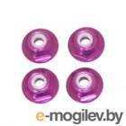 Колесные гайки. Гайки фланцевые 8-32 Aluminium (4шт) Purple.