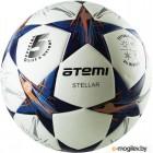 Футбольный мяч Atemi Stellar (размер 5, белый/синий/оранжевый)
