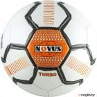 Футбольный мяч Novus Turbo PVC (размер 5, белый/черный/оранжевый)