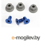Wing mounting hardware 4x8mmCCS (aluminum)(3)/ 4x7mm flanged NL (3).