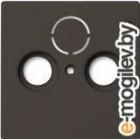 Лицевая панель для розетки ABB Basic 55 1724-0-4314 (шато-черный)