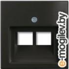 Лицевая панель для розетки ABB Basic 55 1753-0-0206 (шато-черный)