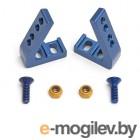 Серво сейверы и другие серво детали. FT Angled Servo Mounts, blue aluminum.