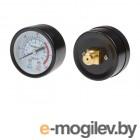 Манометр для компрессора ЕСО, резьба 1/4 (Резьба - 1/4, металлический корпус, Давление - 0-10 бар) (ECO)