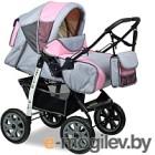 Детская универсальная коляска Alis Amelia I (am11, серый/розовый)