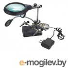 Лупы и аксессуары Лупа настольная Kromatech MG16129-C 2.5x/7.5x/10x с подсветкой 5 LED 23149b104