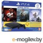 Sony PlayStation 4 Slim 1Tb Black CUH-2208B + Gran Turismo Sport + God of War + Horizon Zero Dawn CE + PSN 3 месяца
