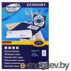 Этикетки Europe100 ELA13-18 ELA013-18 A4 70x42.3мм 21шт на листе/70г/м2/18л./белый матовое самоклей. универсальная