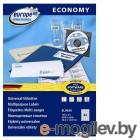 Этикетки Europe100 ELA048-100 ELA048 A4 70x16.9мм 51шт на листе/70г/м2/100л./белый матовое самоклей. универсальная