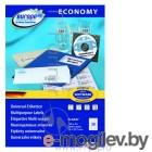 Этикетки Europe100 ELA047-100 ELA047 A4 70x29.7мм 30шт на листе/70г/м2/100л./белый матовое самоклей. универсальная