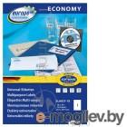 Этикетки Europe100 ELA027-18 A4 210x297мм 1шт на листе/70г/м2/18л./белый матовое самоклей. универсальная