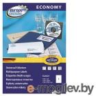 Этикетки Europe100 ELA027-100 ELA027 A4 210x297мм 1шт на листе/70г/м2/100л./белый матовое самоклей. универсальная