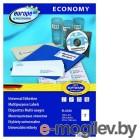 Этикетки Europe100 ELA026-100 ELA026 A4 210x148.5мм 2шт на листе/70г/м2/100л./белый матовое самоклей. универсальная