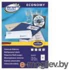 Этикетки Europe100 ELA021-100 ELA021 A4 105x48мм 12шт на листе/70г/м2/100л./белый матовое самоклей. универсальная