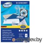 Этикетки Europe100 ELA001-18 A4 38x21.2мм 65шт на листе/70г/м2/18л./белый матовое самоклей. универсальная
