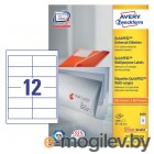 Этикетки Avery Zweckform 3659 A4 97x42.3мм 12шт на листе/70г/м2/100л./белый матовое самоклей. универсальная