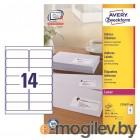 Этикетки Avery Zweckform L7163-100 A4 99.1x38.1мм 14шт на листе/70г/м2/100л./белый самоклей. универсальная