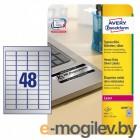 Этикетки Avery Zweckform L6009-20 A4 45.7x21.2мм 48шт на листе/198г/м2/20л./серебристый самоклей. для лазерной печати