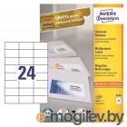 Этикетки Avery Zweckform 3474 A4 70x37мм 24шт на листе/70г/м2/100л./белый матовое самоклей. универсальная