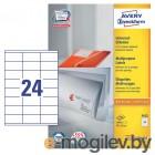 Этикетки Avery Zweckform 3422 A4 70x35мм 24шт на листе/70г/м2/100л./белый самоклей. универсальная