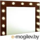 Зеркало интерьерное Континент 13 ламп 90x70 (шоколадный)