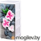 Комод пластиковый Эльфпласт Орхидея №15 (белый)