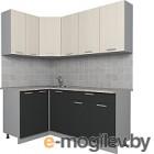 Готовая кухня Интерлиния Мила Лайт 1.2x1.8 (вудлайн кремовый/антрацит)