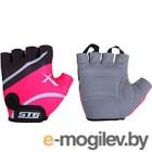 Перчатки велосипедные STG Х61872-С10 (S, черный/розовый)