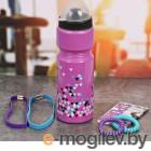 СИМА-ЛЕНД Треугольники - бутылка для воды 800ml + повязка для волос 2шт и блокнот 2588937