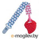 Прорезыватель для зубов Roxy-Kids RSC-001-B (голубой/розовый кружочек)