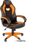 Кресло геймерское Chairman Game 16 (экопремиум, черный/оранжевый)