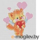 Набор для вышивания БЕЛОСНЕЖКА Котёнок с сердечком / 149-14