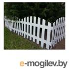 Забор декоративный RENESSANS №2, 3,1х0,35 м, белый, GARDENPLAST