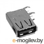 USB-002, разъем USB на плату, вертикальный