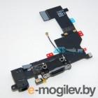 шлейф с разъёмом зарядки и микрофоном для iPhone 4S, черный