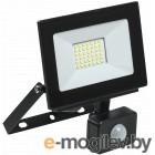 Iek LPDO602-30-65-K02 Прожектор СДО 06-30Д светодиодный черный с датчиком движения IP54 6500K