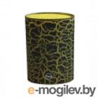 Подставка для ножей овальная (лапша), черный/желтый, корпус ABS с покрытием кракелюр Tima РР-07