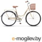 Велосипед Stels Navigator 28 325 Lady Z010 (с корзиной) (LU087509) Слоновая кость/Коричневый