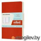 Блокнот Moleskine VOLANT QP713F16B24 Pocket 90x140мм 80стр. нелинованный мягкая обложка оранжевый/голубой (2шт)