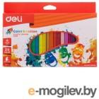 Восковые мелки Deli EC20020 Color Emotion трехгранные 24цв. картон.кор./европод.