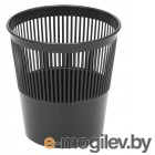 Корзина для бумаг Стамм КР21 круглая 9л. пластик черный