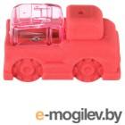 Ластик Silwerhof Машинка 181125 Цветландия фигурный красный с точилкой
