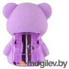 Ластик Silwerhof Мишка 181124 Цветландия фигурный фиолетовый с точилкой