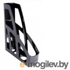 Лоток вертикальный Стамм ОФ100 Лидер 300x250x75мм черный пластик