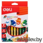 Масляная пастель Deli EC20110 Color Emotion шестигранные 18цв. картон.кор./европод.