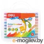 Масляная пастель Deli EC20114 Color Emotion шестигранные 18цв. пл.кор.