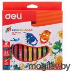 Масляная пастель Deli EC20120 Color Emotion шестигранные 24цв. картон.кор./европод.