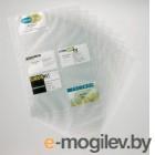 Набор вкладышей Durable 57х90мм (200 визиток) вклад.:10шт. прозрачный