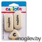 Набор ластиков Carioca SCHOOL 42782 каучук белый блистер (3шт)