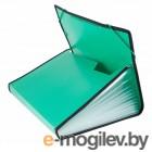 Папка на резинке Бюрократ BPR13LGRN 13 отдел. A4 с окантовкой пластик 0.7мм зеленый